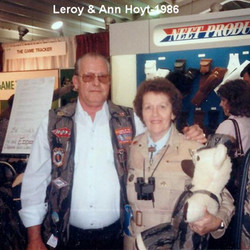 Leroy and Ann Hoyt at a Trade Show in 1986
