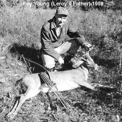 Roy Young (Leroy's Father) with a Buck He Got with a Bow and Arrow in 1959