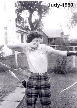 Judy Shooting a Bow in 1960