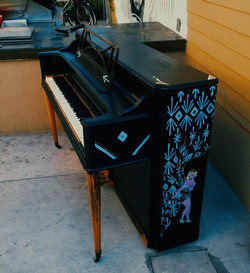 Piano painted by Brynna Ziegler