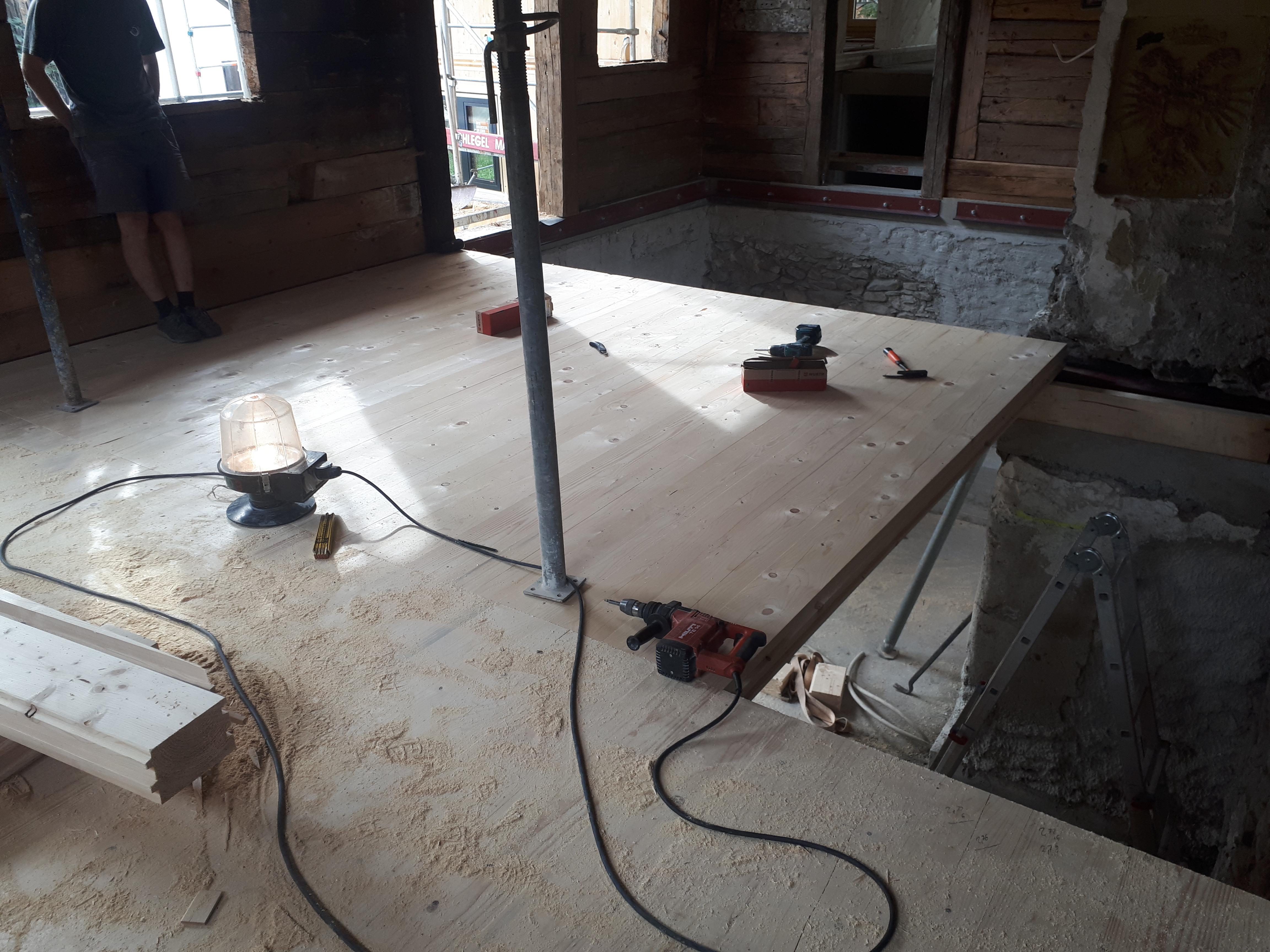 Einbau Massivholzgeschossdecken 1