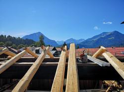Aufdachdetails nach historischer Bauweis