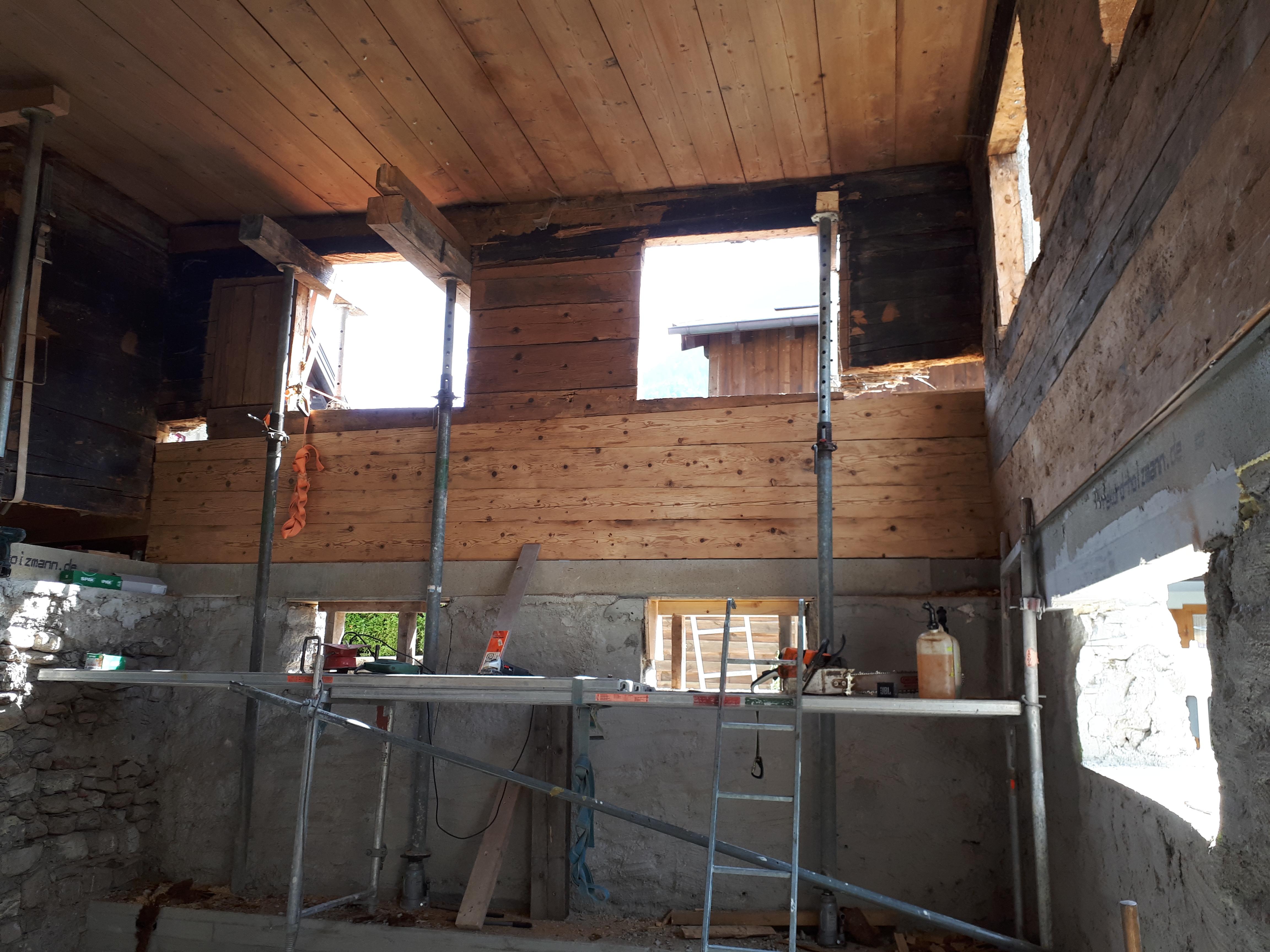 Statische Instandsetzung Holzstrickbau 5