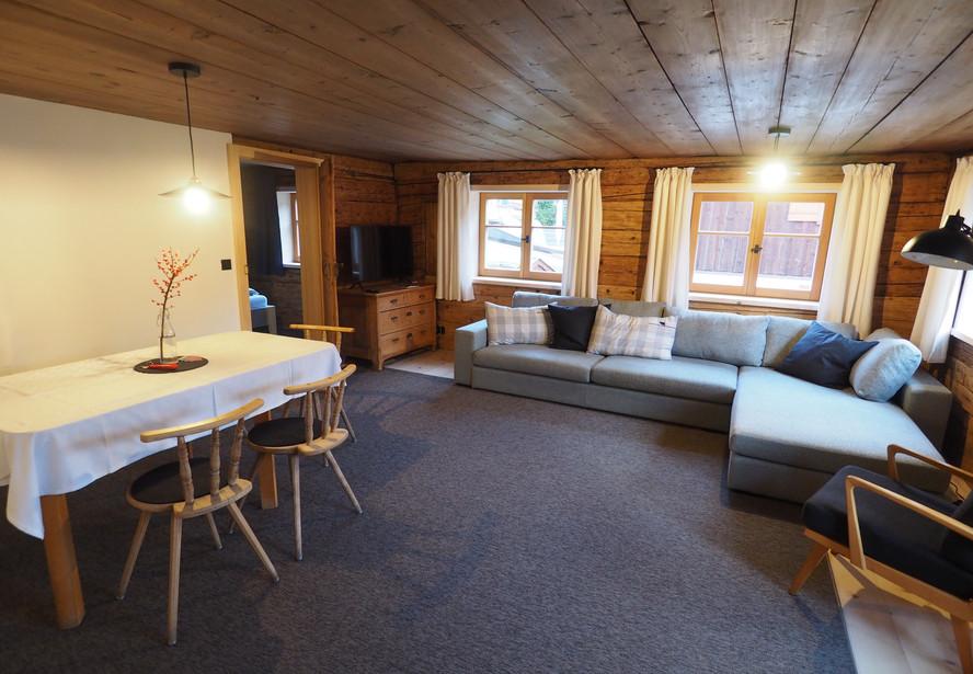Wohnzimmer Ferienwohnung Lexar Hüs Obers