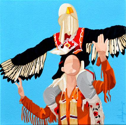 Mikisow (Bald Eagle in Cree) - Mikisow (Águia Americana em linguagem Cree)