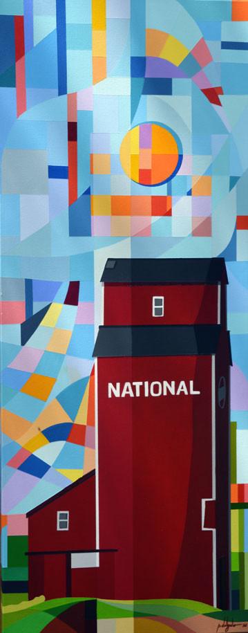 National (grain elevator in Winnipegosis - MB) - National (elevador de cerais em Winnipegosis - MB)