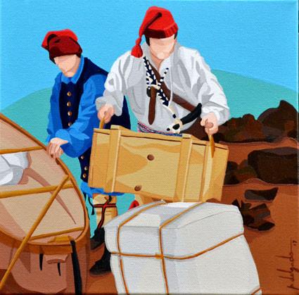 ᐅᒫᐦᐊᒧᐤ omâhamow (Voyageur in Cree) - ᐅᒫᐦᐊᒧᐤ omâhamow (Viajante em linguagem Cree)