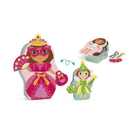 Jogo magnético - Princesas - Djeco
