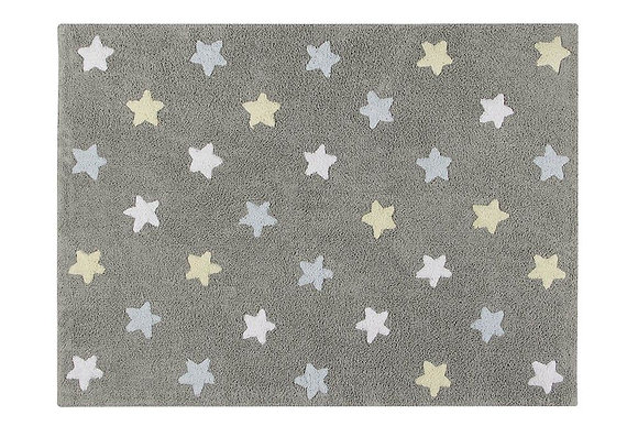 Tapete Lavável Tricolor Stars Azul