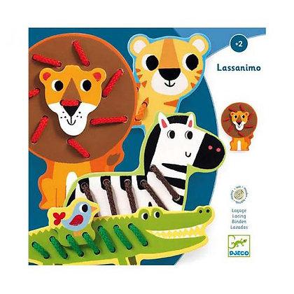 Jogo de enfiamentos com animais - Lassanimo - Djeco