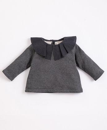 Camisola em algodão com gola - Play Up