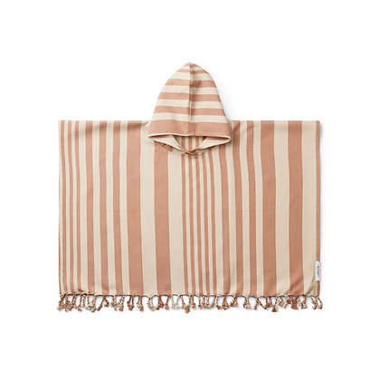 Roomie Poncho - Riscas Tuscany rose/sandy -Liewood