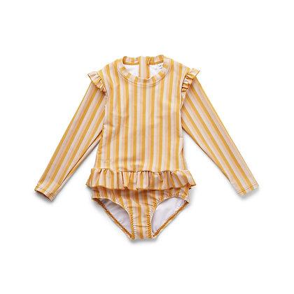 Fato de Banho Sillie - Riscas Peach/sandy/yellow mellow - Liewood