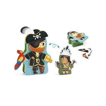InZeBox - Caixa de Metal com Iman - Pirata - Djeco