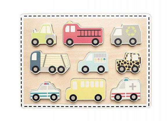 Puzzle de encaixe - Carros