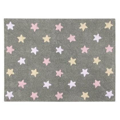 Tapete Lavável Tricolor Stars Rosa