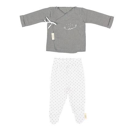 Conjunto Kimono + Calça - Casual
