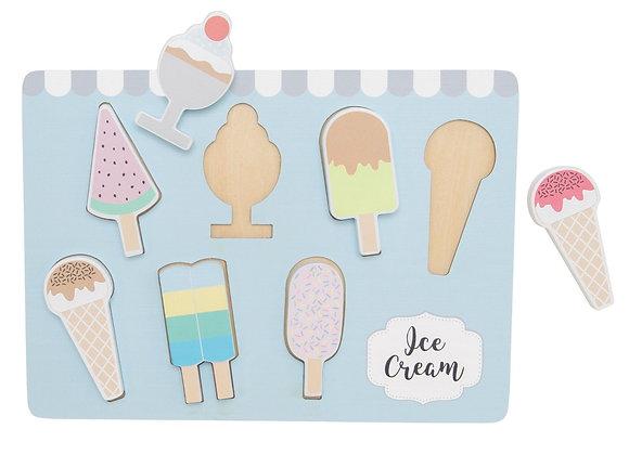 Puzzle de gelados de encaixe