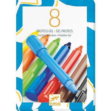 8 Marcadores Gel/Pastel - Djeco