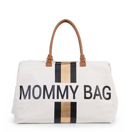 Mommy Bag - risca preta e dourada - ChildHome