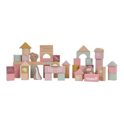 Blocos de construção - Rosa - Little Dutch