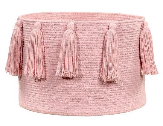 Cesto Tassels Pink - Lorena Canals