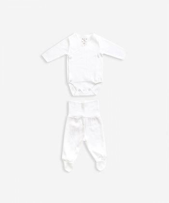 Conjunto em algodão orgânico Branco - Play Up