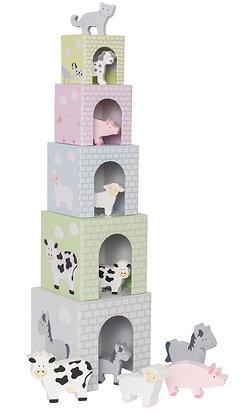 Cubos de empilhar - Animais - Jabadabado
