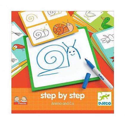 Desenhar passo a passo - ANIMAIS - Djeco