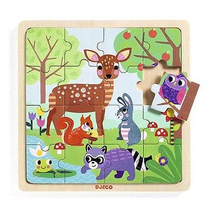 Puzzle Animais na Floresta - Djeco