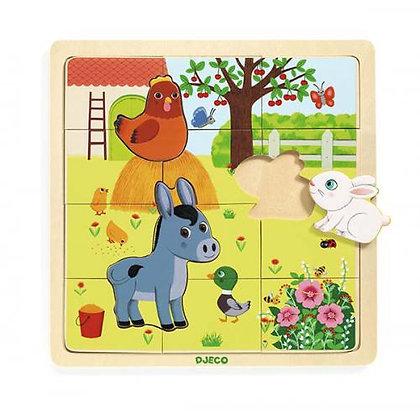 Puzzle Animais na Quinta - Djeco
