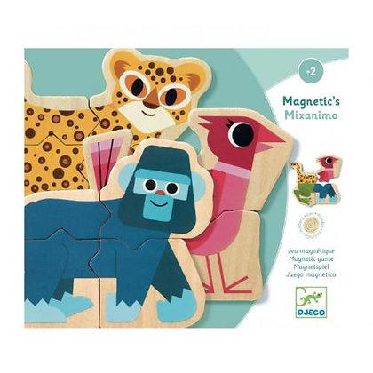 Puzzle - Mixanimo - Animais magnéticos - Djeco