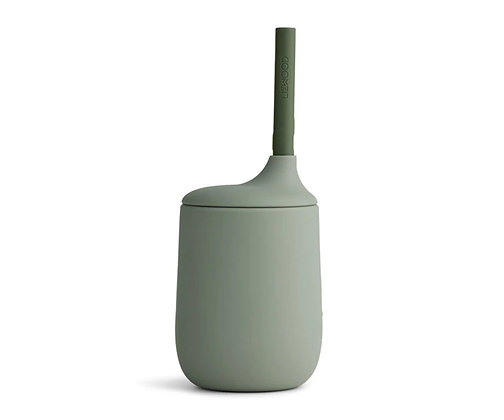 Ellis Sippy Cup - Faune green/hunter green mix