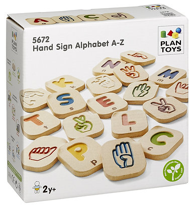 Alfabeto - Língua Gestual (Americana) da Plan Toys