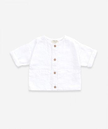 Camisa de linho com bolsos