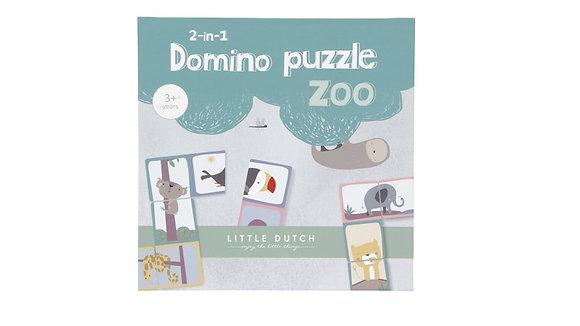 Dominó Puzzle Zoo 2 em 1