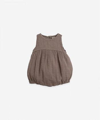 Macacão curto de tecido - Pinha - Play Up