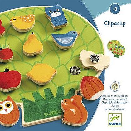 Clipaclip - Jogo de combinar frutas e Animais - Djeco