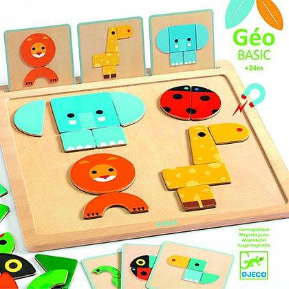 Puzzle Magnético de Animais - Djeco