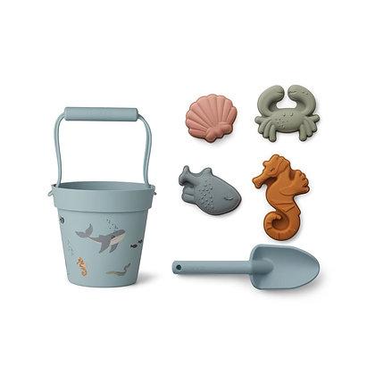 Set brinquedos de praia - Dante - Azul - Liewood