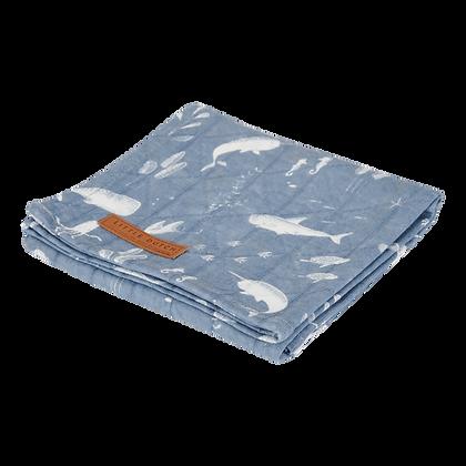 Musselina 120x120cm Ocean Blue - Little Dutch