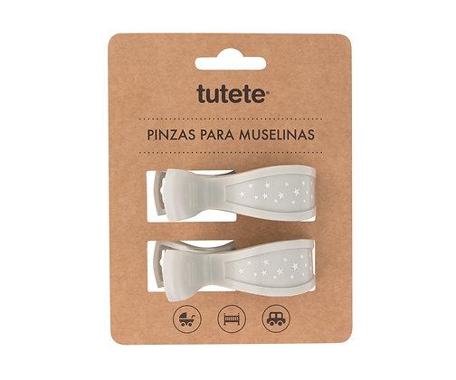 Pinças Cinza para Musselinas - Tutete