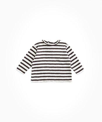 T-shirt às riscas em algodão orgânico - RICARDO
