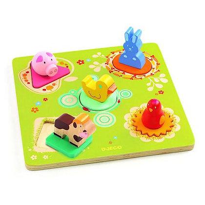 Puzzle formas com animais - BILDI - Djeco