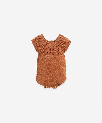 Macacão tricot com botões de madeira - Anise - Play Up
