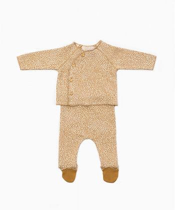 Conjunto camisola e calça com padrão - Play Up