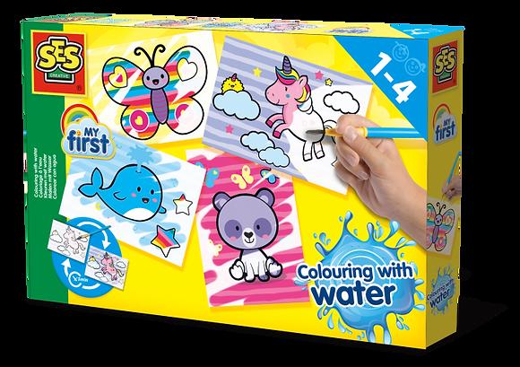 Colorir com água - Animais de Fantasia