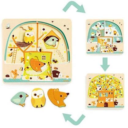 Puzzle de Camadas com animais - CHEZ NUT