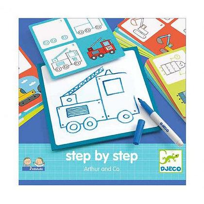 Desenhar passo a passo - Arthur & CO - Djeco