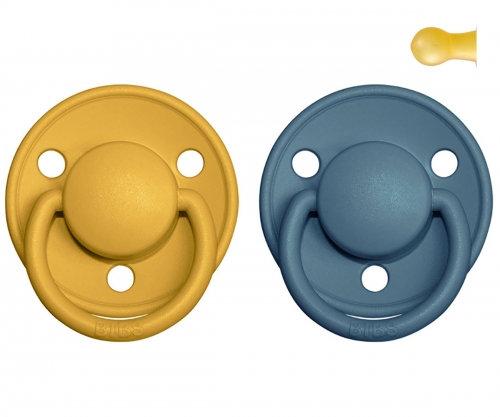 BIBS De Lux Mustard/Petrol